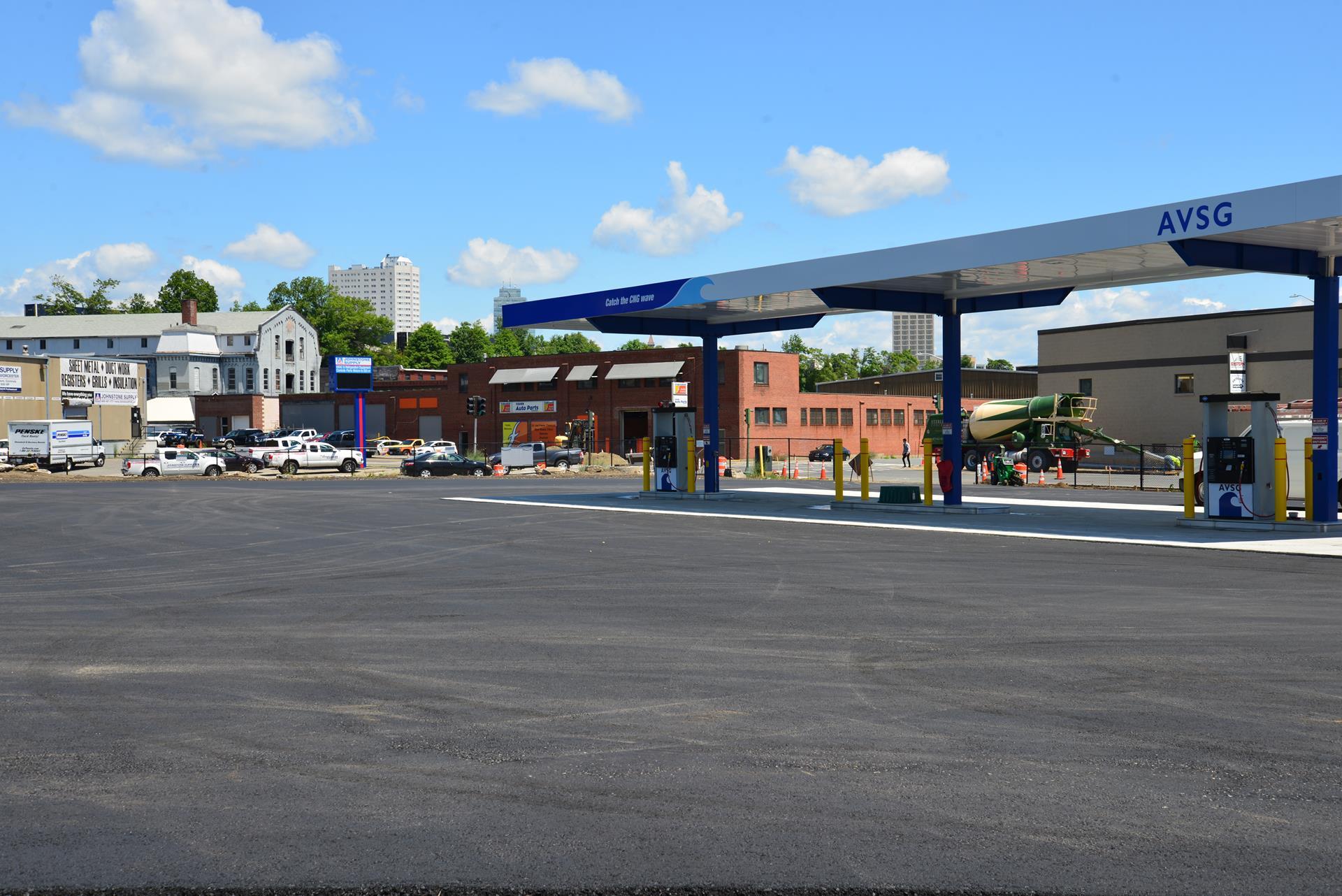 Natural Gas Fueling Station, Worcester Massachusetts